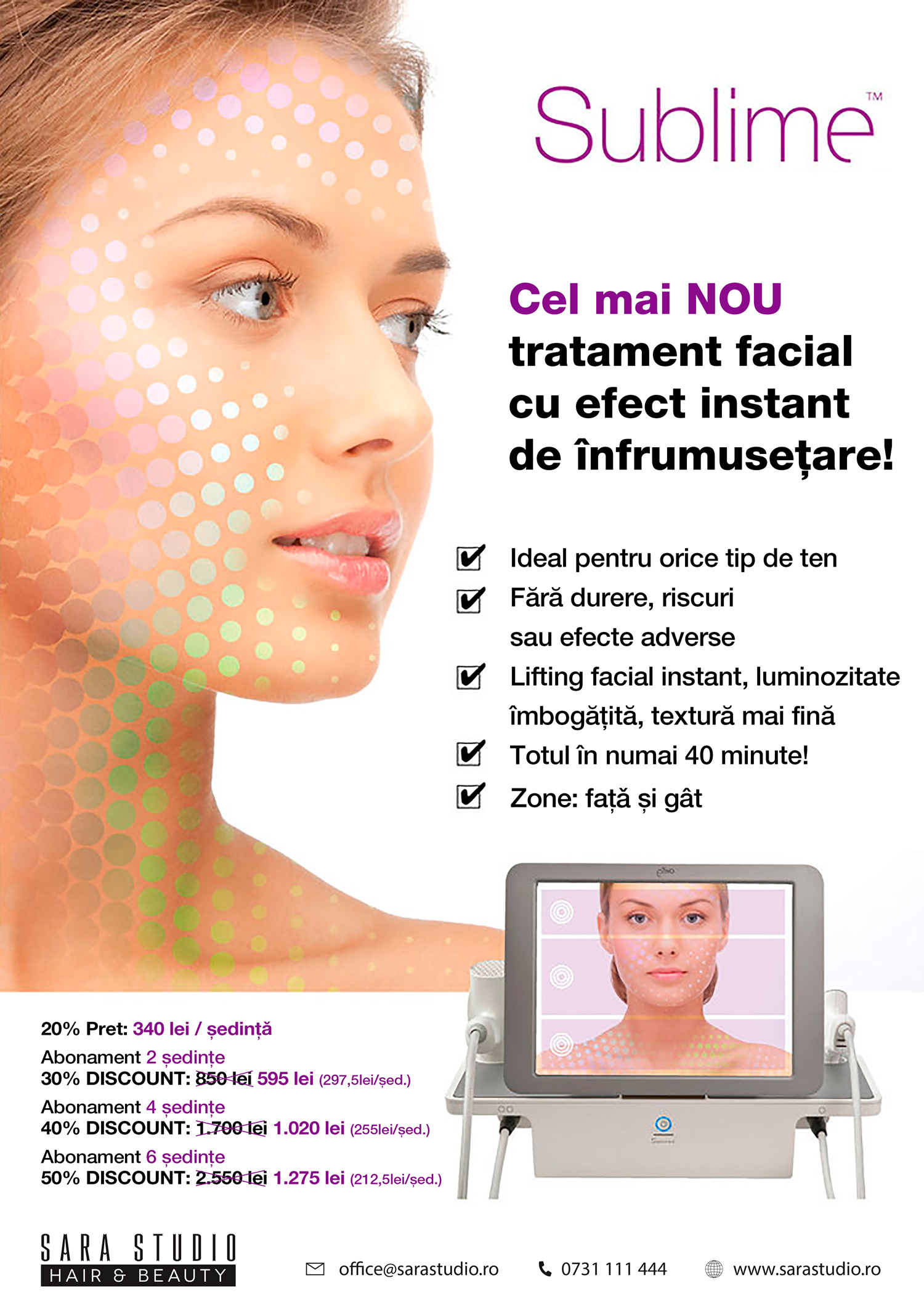 tratament facial sublime